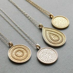 ✨Anna Beck Large Reversible Beaded Disc Necklace